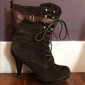 GUESS High-Cut Ankle Boot Heels